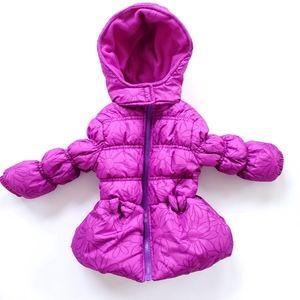 Pink Platinum Puffer Coat
